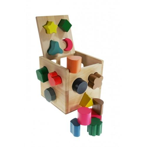 Cubo para meter de madera