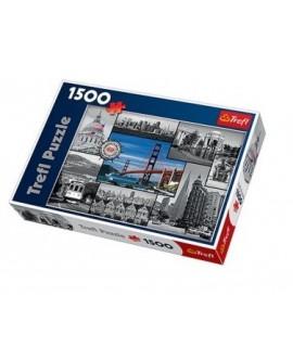Puzzle de la ville de San Francisco 1500 pièces pour s'adapter.