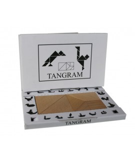 Tangram de madera de haya para trabajar el razonamiento geométrico.