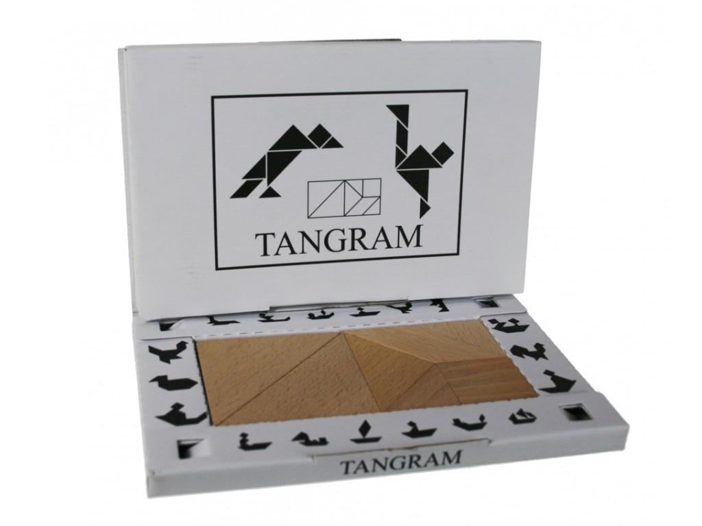 Tangram de madera de haya para trabajar el razonamiento geométrico