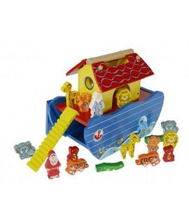 Arca de Noè de Fusta joguina tradicional amb accessoris
