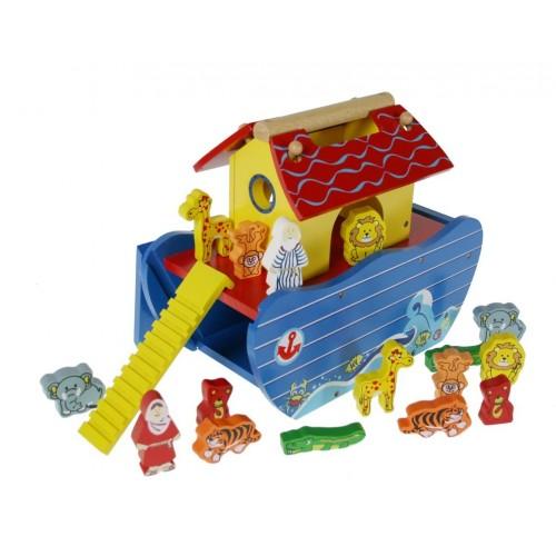 Arca de Noé de Madera juguete tradicional con accesorios