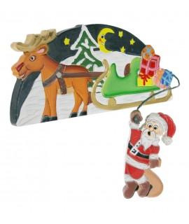 Papá Noel, marco puerta