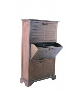 Mueble zapatero de madera