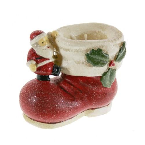 ela de Navidad con forma de zapato Papá Noel