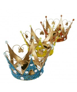 Set de 3 coronas de Reyes portavelas