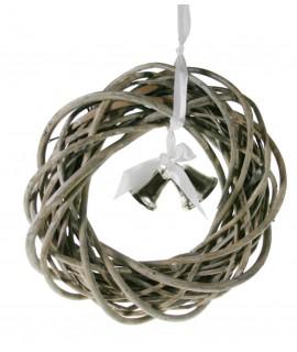 Corona de mimbre con campanillas