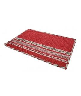 Mantel individual para mesa comedor de color rojo decoración de Navidad. Medidas: 33x50 cm.