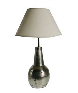 Lampe à poser métal couleur étain décoration style nordique