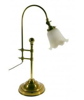 Lámpara de sobremesa de metal y pantalla de cerámica estilo rustico decoración hogar. Medidas: 60x30x20 cm.