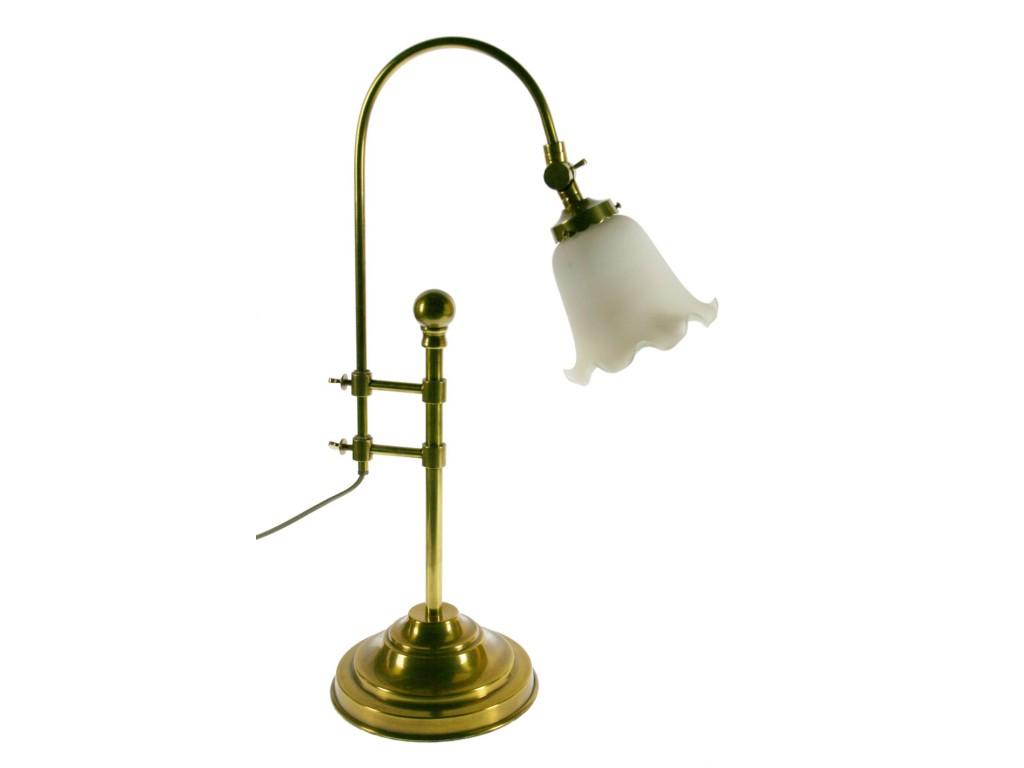 Lámpara sobremesa rustica metal pie ajustable pantalla de cerámica