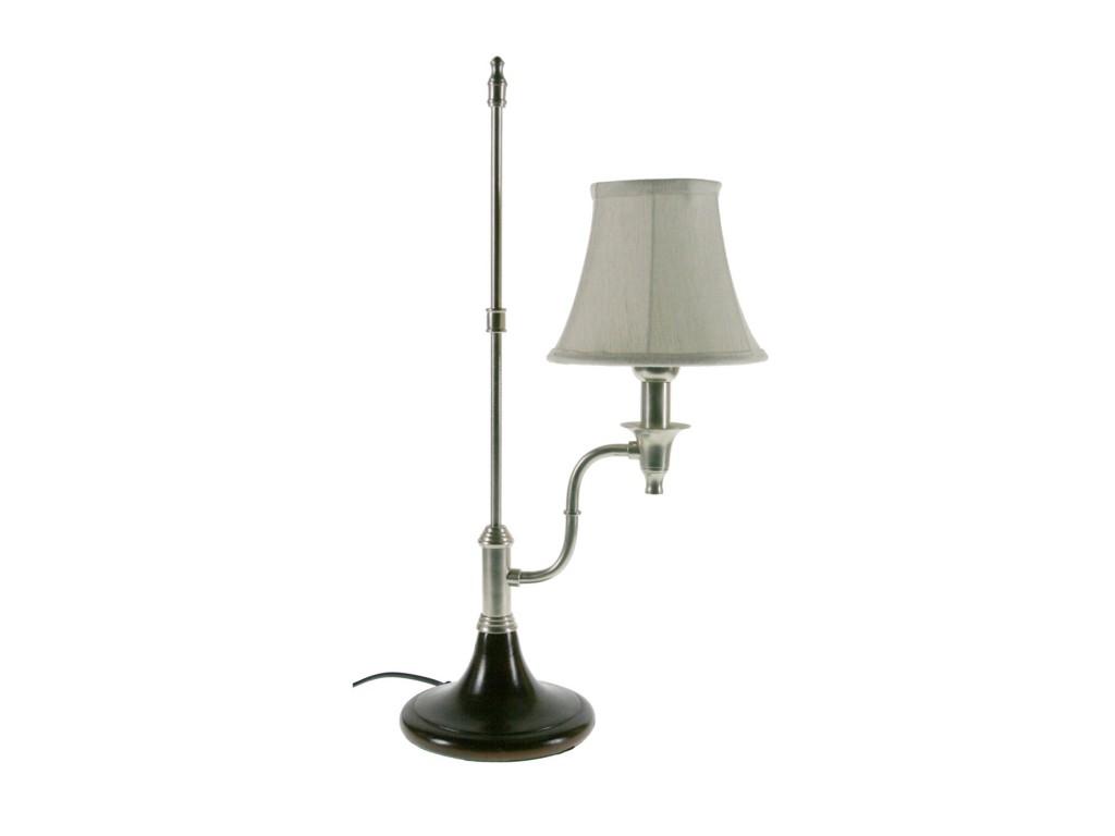Lámpara de sobremesa base madera y metal decoración hogar vintage
