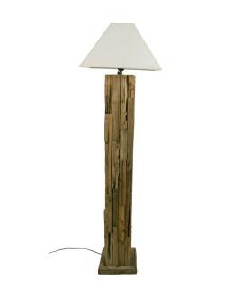Lámpara de pié Madera Reciclada