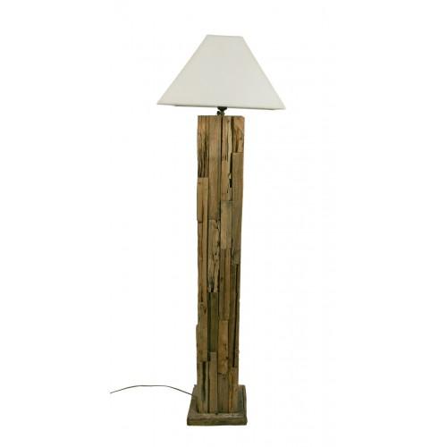 """Lámpara de pié """"Madera Reciclada"""""""