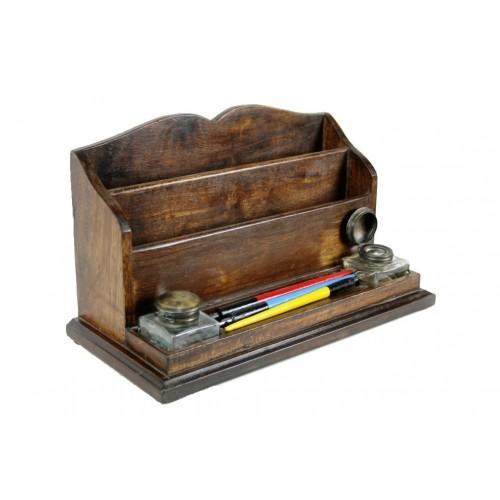 Caja de madera cartero escritorio