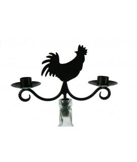 Porta velas para botella forma de gallina para dos velas largas