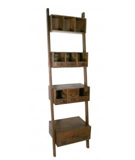 Librería estantería de madera maciza de Acacia estilo rustico