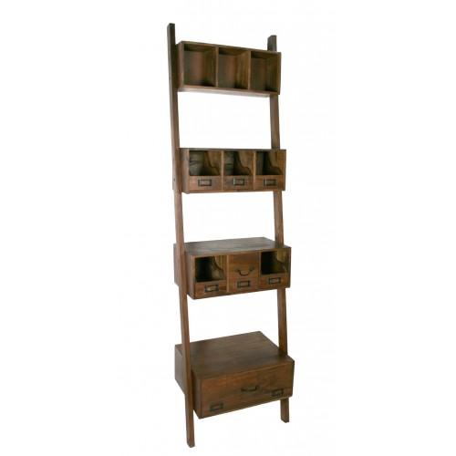 Comprar online librer a estanter a de madera maciza de acacia - Estanteria madera maciza ...