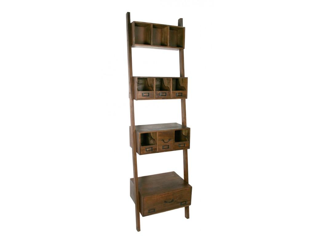 Comprar online librer a estanter a de madera maciza de acacia for Muebles madera maciza outlet