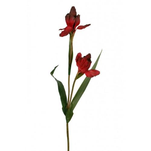 De lis avec des p tales de fleurs artificielles d coration for Fleurs artificielles tissu
