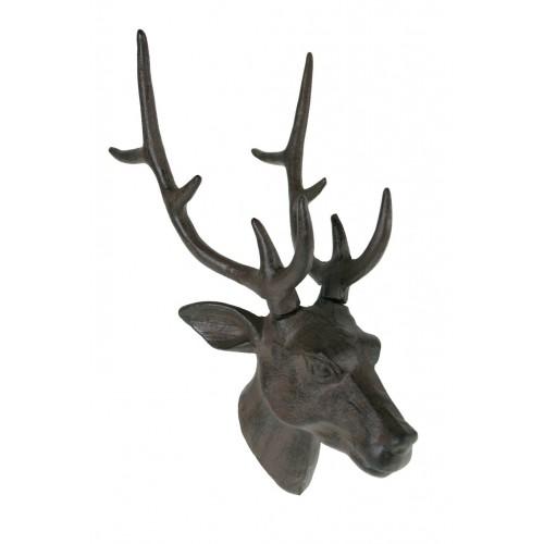 Figura decorativa cabeza de ciervo para colgar en la pared