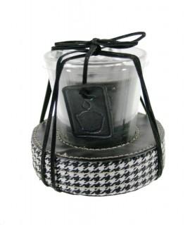 Bougie parfumée en verre pour décorer la couleur noire à la maison