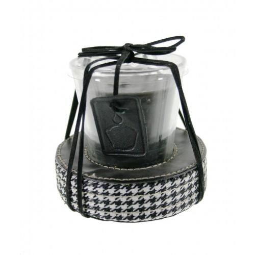 Vela aromática en vaso para decorar de color negro para ambiente en hogar