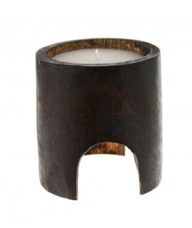 Vela básica con soporte de caña de bambú para crear ambiente