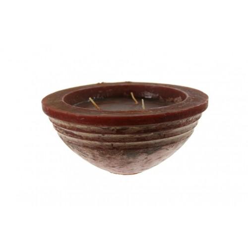Vela básica aroma vainilla de forma de copa grande para ambiente