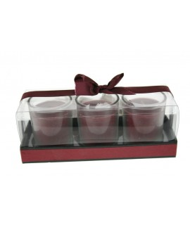 Espelma aromàtica fragància pètals de magnòlia set de tres