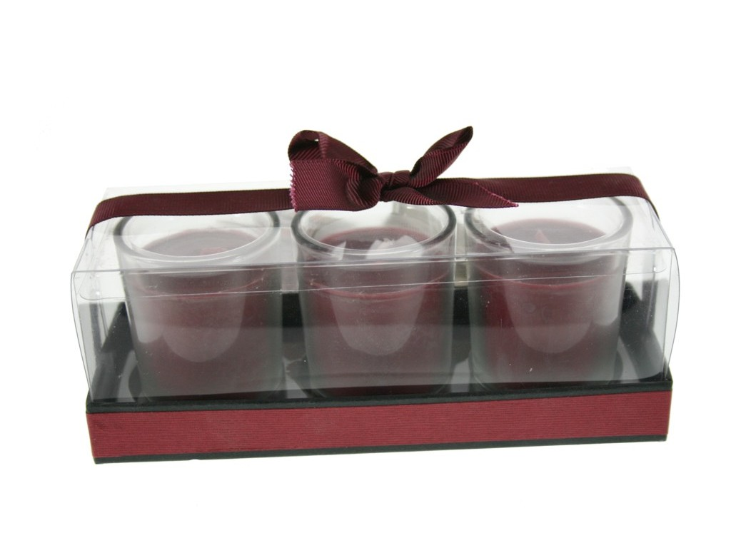 Vela aromática fragancia pétalos de magnolia set de tres