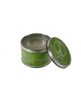 Vela aromática fragancia de pétalos para ambiente en hogar