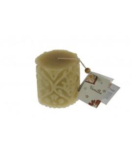 Vela aromática fragancia de vainilla para ambiente en hogar