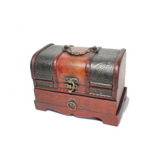 Cofre Bagul de fusta amb calaix