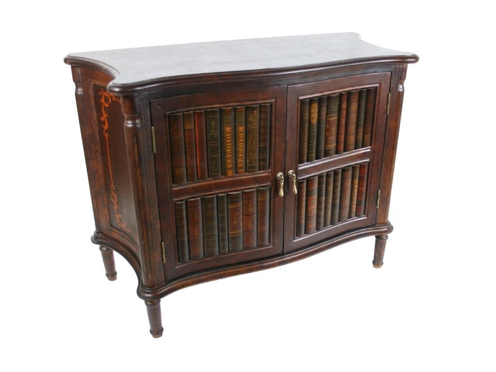 Consola baja de madera con puertas decoración libro