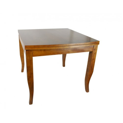 Mesa de comedor de madera color roble abatible