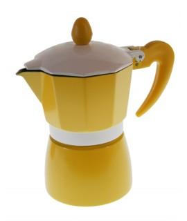 Cafetera aluminio color amarillo para dos