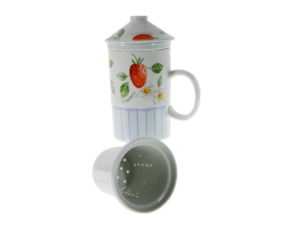 Mug para infusiones con tapa y colador for Tazas de te con tapa