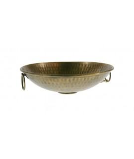 Poches rondes centrales en métal vides avec de vieilles poignées dorées