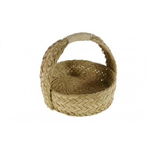Panera redonda de esparto y cuerda