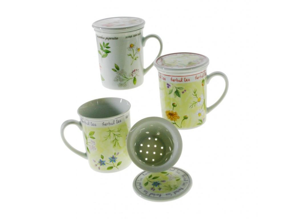 tasse de th avec couvercle et tamis en assortiment utile de la cuisine. Black Bedroom Furniture Sets. Home Design Ideas