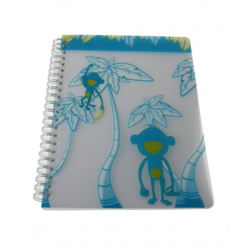 Libreta infantil tapas de plástico cuadriculada