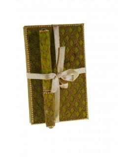 Libreta Notas con Pedreria -color Oro-