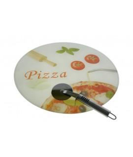 Tabla de Corte Pizza Cristal templado