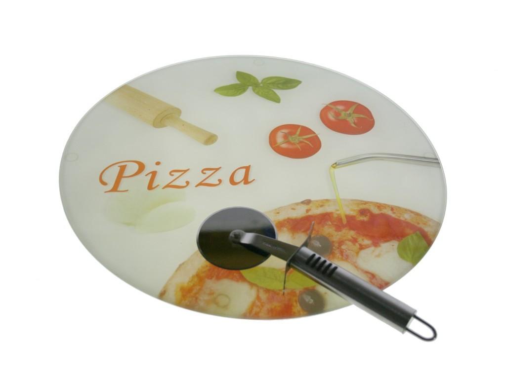 Tabla de Corte Pizza Cristal/templado