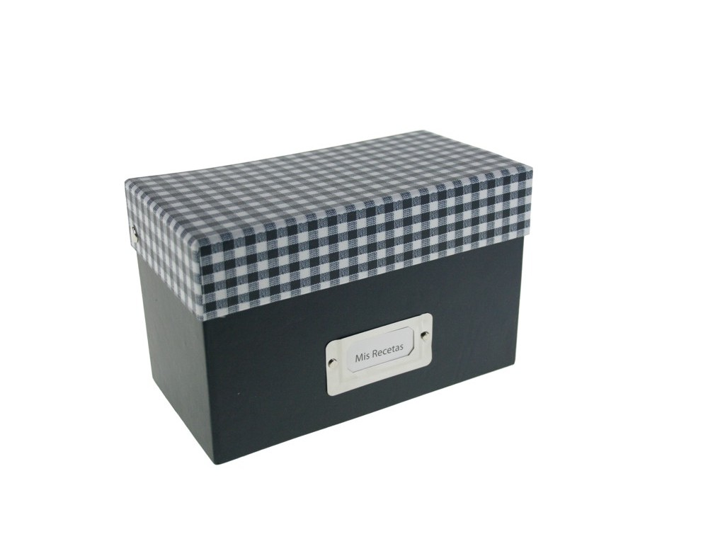 Caja de cart n r gido para clasificar recetas de cocina - Cajas para cocina ...