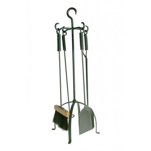 Útiles para brasero de hierro forja con soporte
