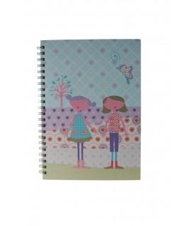Llibreta anelles infantil Tapa rígida amb il·lustració Fulles ratllades A4