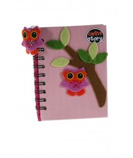 Libreta Notas infantil Tapa Tela color Rosa