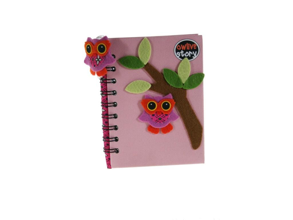 Libreta Notas infantil Tapa Tela -color Rosa-